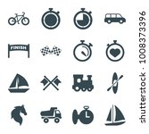 race icons. set of 16 editable... | Shutterstock .eps vector #1008373396