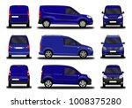 realistic cargo van. front view ... | Shutterstock .eps vector #1008375280