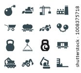 heavy icons. set of 16 editable ... | Shutterstock .eps vector #1008375718