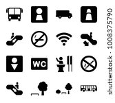 public icons. set of 16... | Shutterstock .eps vector #1008375790