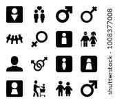 gender icons. set of 16... | Shutterstock .eps vector #1008377008