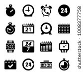 time icons. set of 16 editable... | Shutterstock .eps vector #1008377758