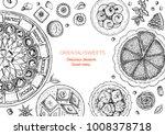 oriental sweets vector...   Shutterstock .eps vector #1008378718
