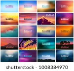 big set of 20 horizontal wide... | Shutterstock .eps vector #1008384970
