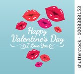 happy valentine's day greeting... | Shutterstock .eps vector #1008388153