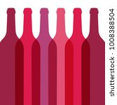 red wine bottles abstract | Shutterstock .eps vector #1008388504