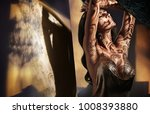 portrait of a sensual brunette... | Shutterstock . vector #1008393880
