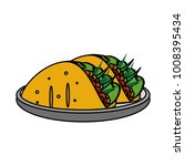 isolated burrito design | Shutterstock .eps vector #1008395434