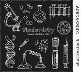 biochemistry. hand drawn doodle ... | Shutterstock .eps vector #1008395809
