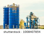 Small photo of Tanks for storage and supply of mineral powder, mixing unit (aggregate)