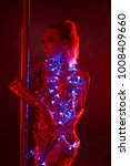 pylon dancer with gold tape... | Shutterstock . vector #1008409660