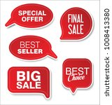 modern sale sticker and tag red ... | Shutterstock .eps vector #1008413380