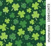 clover leaf seamless pattern... | Shutterstock .eps vector #1008413473