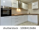 Stock photo kitchen with appliances and a beautiful interior 1008413686