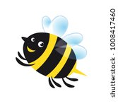 sweet bee cartoon vector... | Shutterstock .eps vector #1008417460