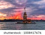 wonderful sunset with maiden's... | Shutterstock . vector #1008417676