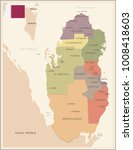 qatar   vintage map and flag  ... | Shutterstock .eps vector #1008418603