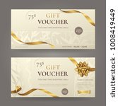 set of stylish gift voucher... | Shutterstock .eps vector #1008419449