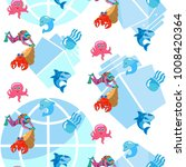 fish and sea anemone  pattern... | Shutterstock .eps vector #1008420364