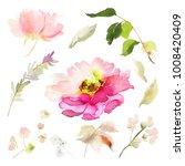 a set of watercolor elements... | Shutterstock . vector #1008420409