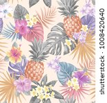 tropical seamless pattern with... | Shutterstock .eps vector #1008420640