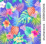 tropical seamless pattern with... | Shutterstock .eps vector #1008420646