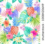 tropical seamless pattern with... | Shutterstock .eps vector #1008420649