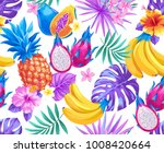 tropical seamless pattern with... | Shutterstock .eps vector #1008420664