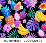 tropical seamless pattern with... | Shutterstock .eps vector #1008420673