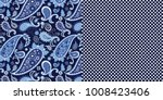 seamless abstract paisley and... | Shutterstock .eps vector #1008423406