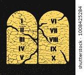 the ten commandments cracked... | Shutterstock .eps vector #1008425284