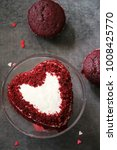 homemade heart shaped red...   Shutterstock . vector #1008425770