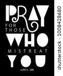 hand lettering pray for those... | Shutterstock .eps vector #1008428680