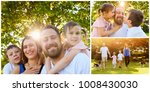 collage of set photos  happy... | Shutterstock . vector #1008430030