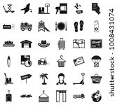transmission icons set. simple... | Shutterstock .eps vector #1008431074