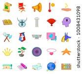 exhibit icons set. cartoon set...   Shutterstock .eps vector #1008431098