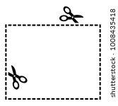coupon border. black scissors...   Shutterstock .eps vector #1008435418