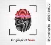 finger print scanning... | Shutterstock .eps vector #1008435670