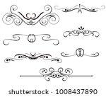 set of decorative florish...   Shutterstock .eps vector #1008437890