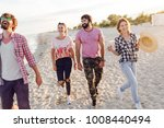 group of happy  excited  people ... | Shutterstock . vector #1008440494