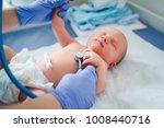newborn baby. little child in... | Shutterstock . vector #1008440716