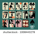 vintage style hand drawn set of ... | Shutterstock .eps vector #1008443278