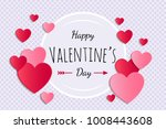 valentine's day   card with...   Shutterstock .eps vector #1008443608