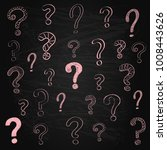 sketchy question marks on... | Shutterstock .eps vector #1008443626