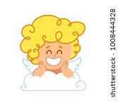 vector illustration of cupid ... | Shutterstock .eps vector #1008444328