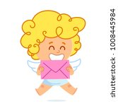 vector illustration of cupid ... | Shutterstock .eps vector #1008445984