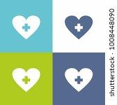 heart medicine blue and green... | Shutterstock .eps vector #1008448090