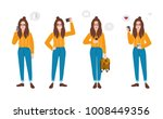 young woman dressed in trendy... | Shutterstock .eps vector #1008449356