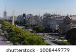 buenos aires obelisk view from... | Shutterstock . vector #1008449779