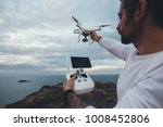 professional drone pilot or... | Shutterstock . vector #1008452806